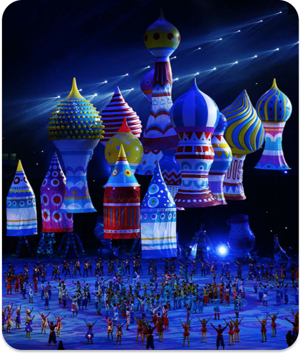 The 7 Fingers performance at the Olympics
